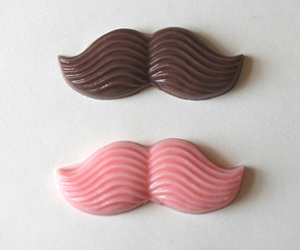 chocolate and moustache image