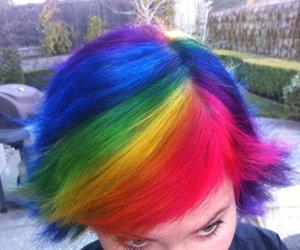 colourfull, crazy, and hair image