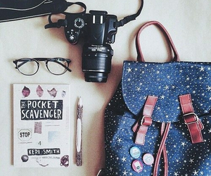 camera, glasses, and bag image