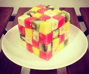fruit, food, and cube image