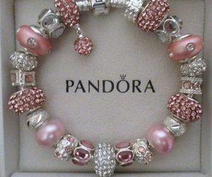 pandora, bracelet, and pink image