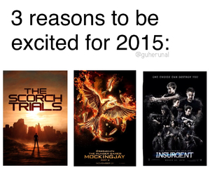 insurgent, mockingjay, and hunger games image