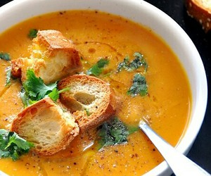 food, soup, and vegetarian image