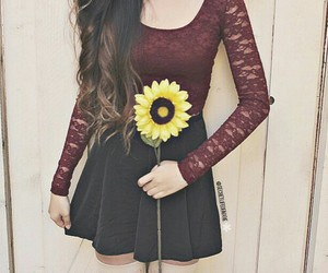 fashion, flower, and yellow image