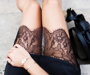 fashion, lace, and black image