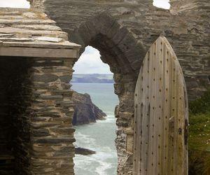 castle, beach, and door image