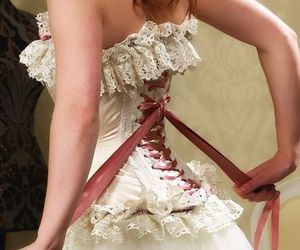 back, bride, and lace image
