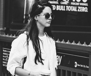 black and white and lana del rey image
