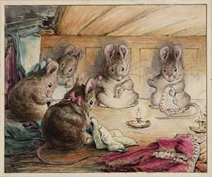 mouse, beatrix potter, and illustration image