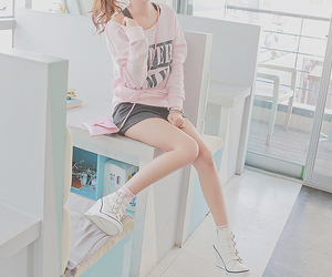 girl, shoes, and pink image
