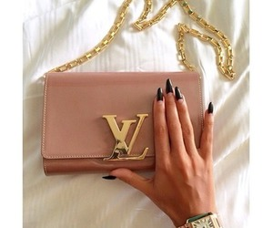 nails, fashion, and bag image