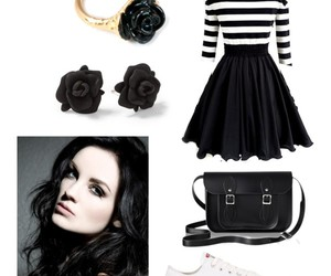 black and white, goth, and outfit image
