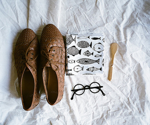 shoes, glasses, and vintage image