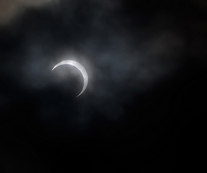 cloudy, dark, and moon image