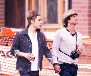 ian somerhalder, paul wesley, and tvd image