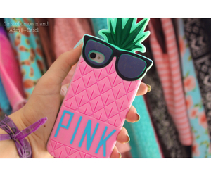 pineapple, pink, and quality image
