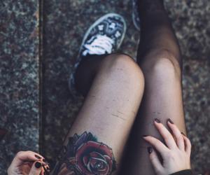 tattoo, grunge, and rose image