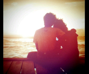 beach, hold, and love image