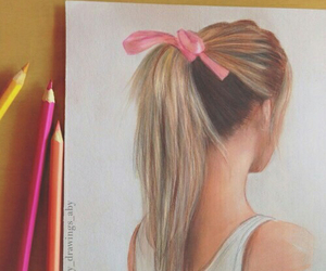 drawing, tumblr, and pink image