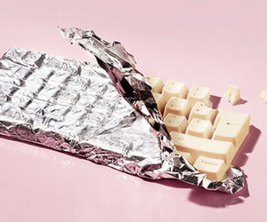 chocolate, food, and keyboard image