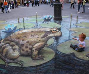 frog, art, and baby image