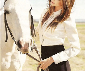 horse, miranda kerr, and model image