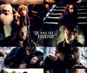 the hobbit, bilbo, and thorin image