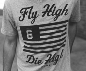 black and white, photography, and shirt image