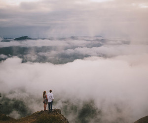 clouds, couple, and love image