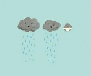 cute and rain image