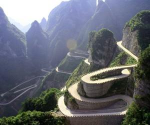 china, nature, and mountain image