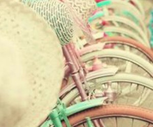 bike, color, and pastel image