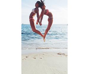 beach, bff, and bikini image