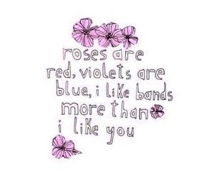 band, flowers, and quotes image
