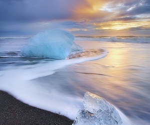 artic, clouds, and sunrise image
