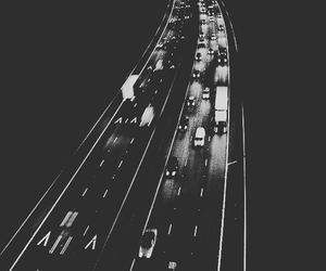 car, light, and black and white image