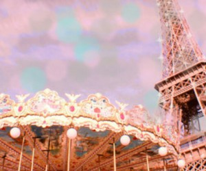carousel, paris, and eiffel tower image