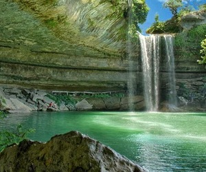 waterfall, nature, and paradise image