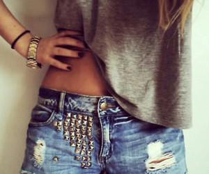 accessories, gray, and studded image