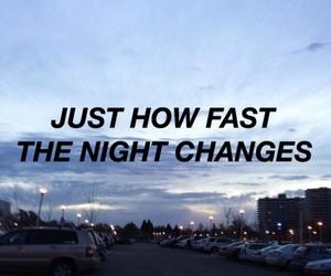 one direction, night changes, and Lyrics image