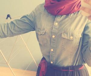 hijab, islam, and red image