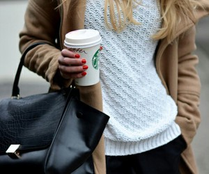 fashion, starbucks, and coffee image