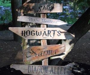 narnia, hogwarts, and neverland image