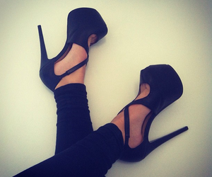 black and heels image