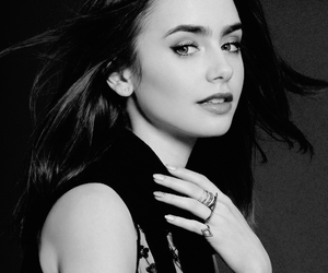 collins, lily, and photoshoot image