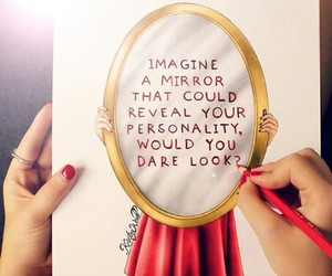 mirror, quote, and personality image