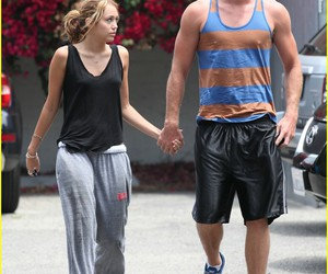 couple, miley cyrus, and liam hemsworth image