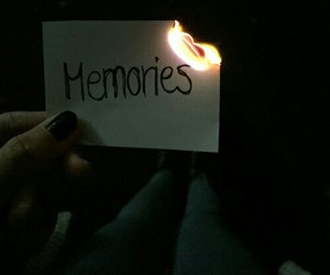 memories, fire, and grunge image