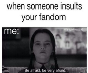afraid, fandom, and funny image