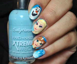 frozen and nails image